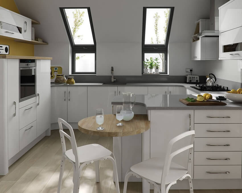 White Kitchen Worktop Ideas Part - 45: THINKING OUTSIDEEFFICIENT KITCHEN SPACES LEADS TO EFFICIENT LIVING!
